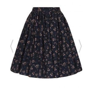 NWT Collectif Jasmine Moonflower Swing Skirt